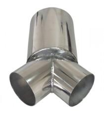 Y aluminium 2x101.6mm + 1x152,4mm épaisseur 2mm