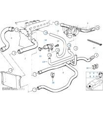 Kit 8 durites eau silicone REDOX BMW E36 325i M50B25 (radiateur vase expansion intégré)