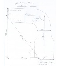 Durite supérieure radiateur eau MAC CORMICK B414 série 21638 de 1964 silicone REDOX