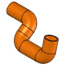 Durite n°2 silicone sur-mesure au plan client RAL 3033
