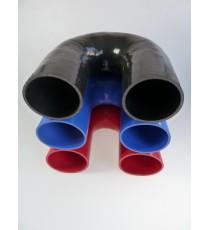 Coude 180° diamètre intérieur 102mm longueur 125mm silicone VMQ