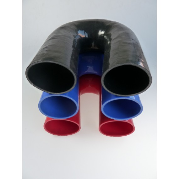 80mm - Coude 180° silicone - REDOX