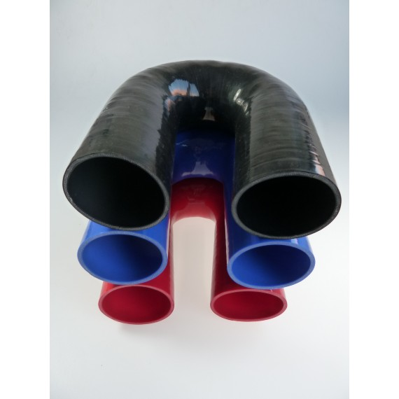 76mm - Coude 180° silicone - REDOX