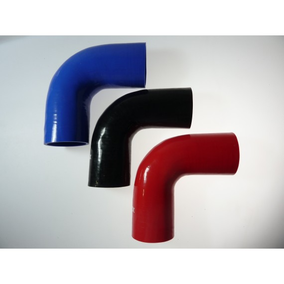 80mm - Coude 90° silicone - REDOX