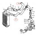 Kit 2 durites suralimentation air turbo diesel silicone pour PEUGEOT Boxer 2.5 TDI 107CV 1997-2002
