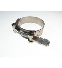 113-121mm - Collier renforcé en acier chromé, visserie zinguée