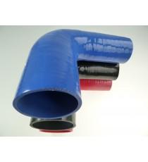 Réducteur 90° diamètre intérieur 57-76mm longueur 125mm silicone VMQ