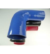 Réducteur 90° diamètre intérieur 63-76mm longueur 125mm silicone VMQ