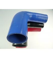 Réducteur 90° diamètre intérieur 51-70mm longueur 125mm silicone VMQ