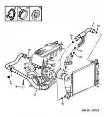 Kit 4 durites eau silicone REDOX PEUGEOT 106 RALLYE PH2