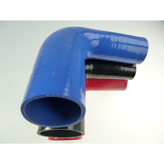 Réducteur 90° diamètre intérieur 35-41mm longueur 100mm silicone VMQ