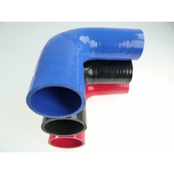 Réducteur 90° diamètre intérieur 45-51mm longueur 125mm silicone VMQ