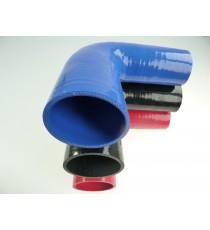 Réducteur 90° diamètre intérieur 60-63mm longueur 125mm silicone VMQ